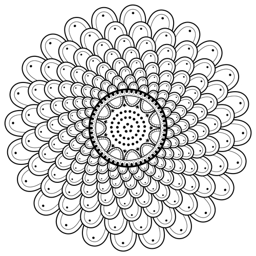 spiral coloring pages to print | Spiral Mandala Coloring Page (M110) | Color a Mandala