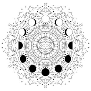Moon Coloring Pages - GetColoringPages.com | 300x300